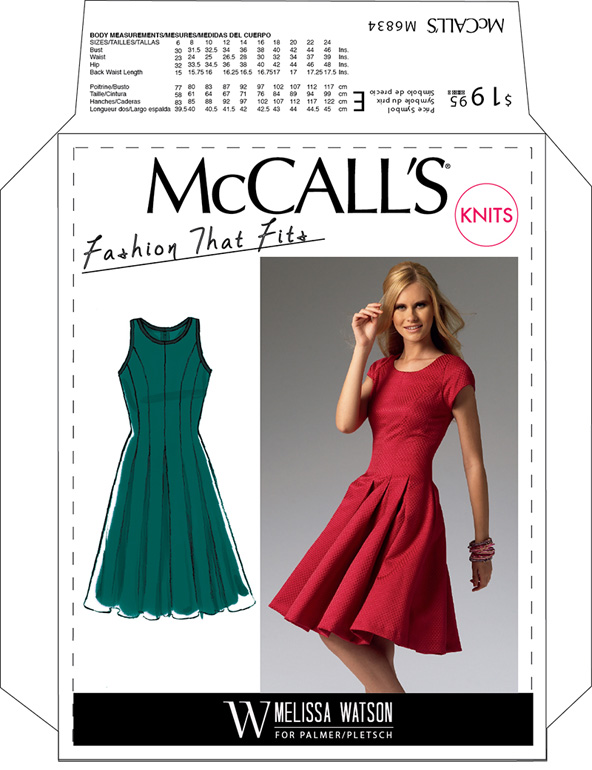 3f66ce302c McCall s 6834 Fit And Flare Pleated Dress Pattern. Previous. Next