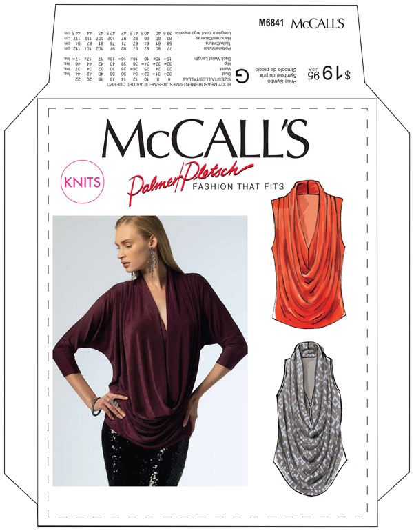 Mccalls Pattern 6841 Easy To Sew Wear Knit Top