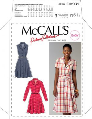 4663aa0808 McCall s 6891 Pattern Retro Dress With Sash – Vintage Sewing