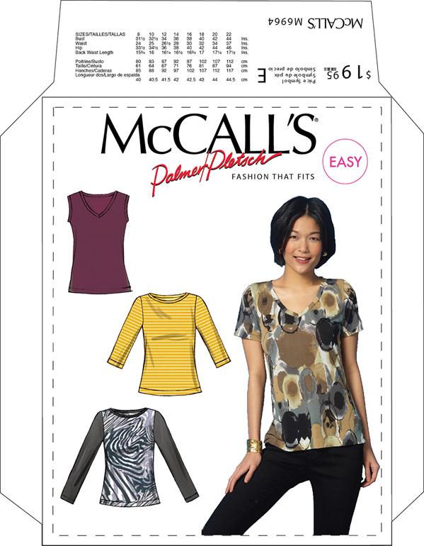 Mccalls Pattern 6964 Basic Knit Tees