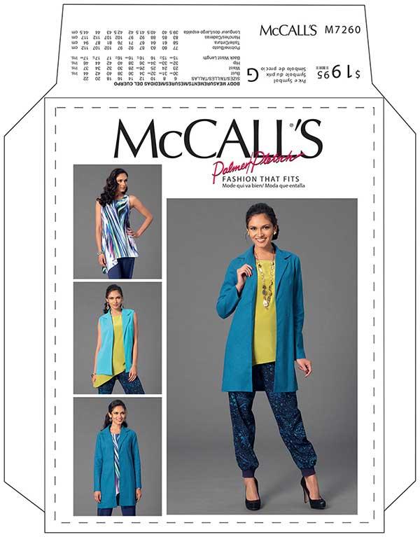 Mccalls Pattern 7260 The Knit Wardrobe