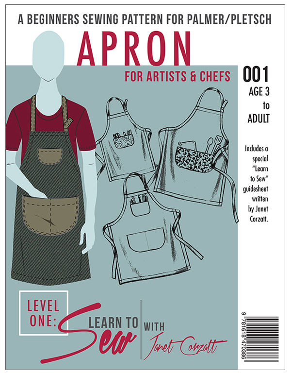 Learn to Sew Apron pattern for beginners