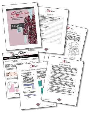 Learn to Sew Level Two notebook pages