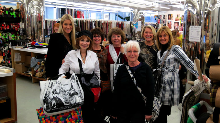 fabric tour as part of sewing seminars