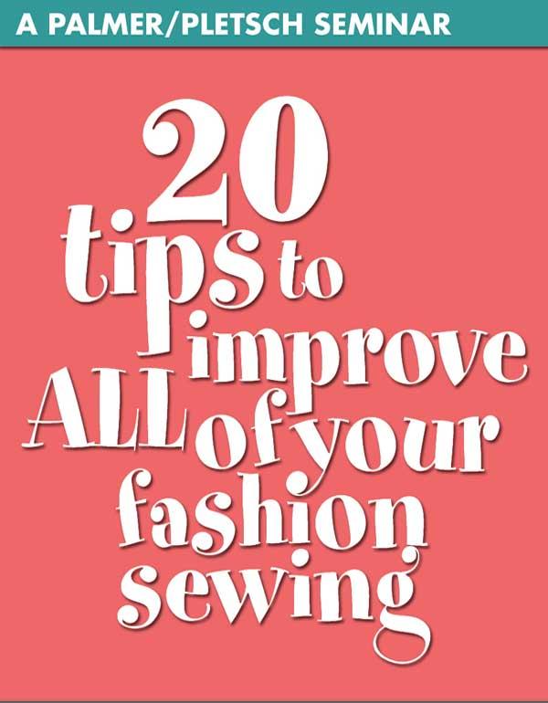 20 SEWING TIPS SEMINAR - CD ONLY
