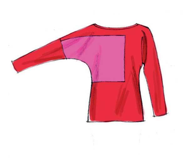 Mccalls 6792 Pattern Dolman Sleeve Blocked Top Dress 7
