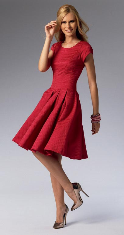 Mccall S 6834 Fit And Flare Pleated Dress Pattern