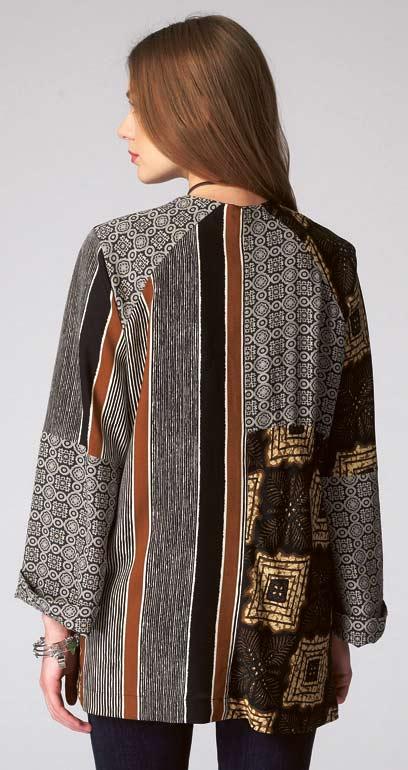 M7132 Patchwork Kimono Jacket Pattern