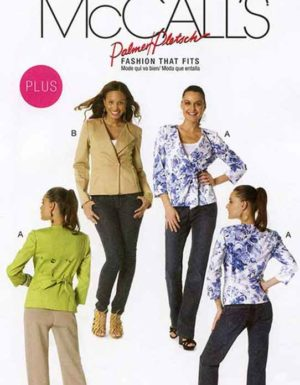 MCCALL'S 6329 PATTERN LINED JACKETS WITH TIE