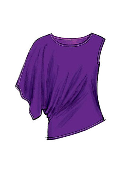 Mccalls 6797 Pattern Asymmetric Sleeve Knit Tops 5