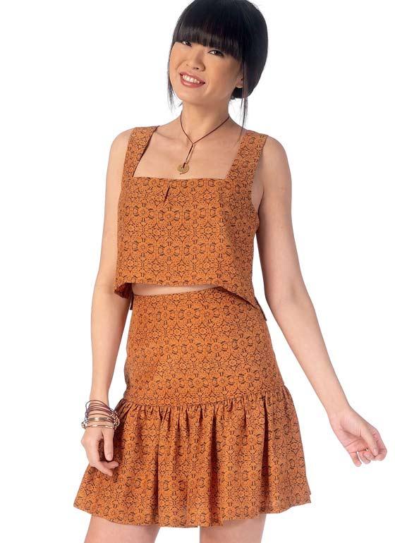McCall's 7166 Pattern Crop Top   High Waist Skirt