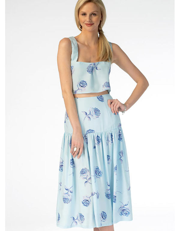 84c59f34b149b Crop Top With High Waisted Long Skirt - Image Skirt and Slipper ...