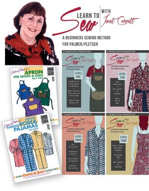 LEARN TO SEW COMPLETE SET: 4 DVDs + 2 SEWING PATTERNS