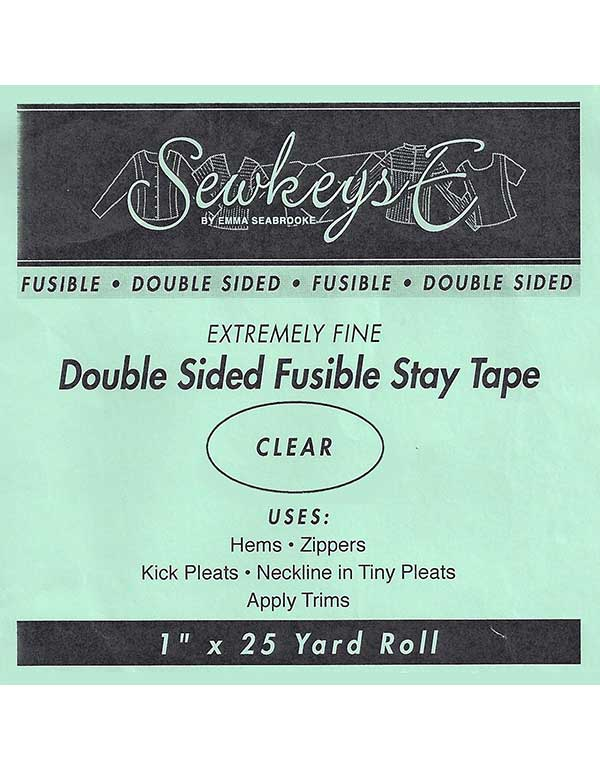 "Notions Sewing SewkeysE Extremely Fine Double Sided Clear Fusible 1"" Stay Tape"