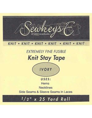 """Notions Sewing SewkeysE Extremely Fine Fusible 1/2"""" Knit Stay Tape"""