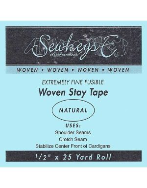 "Notions Sewing SewkeysE Extremely Fine Fusible Woven 1/2"" Stay Tape"
