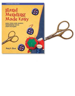 Hand Mending Made Easy book plus Gold-plated Italian embroideru scissors