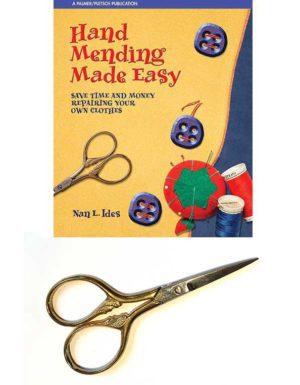 Hand Mending Made Easy book plus Italian embroidery scissors