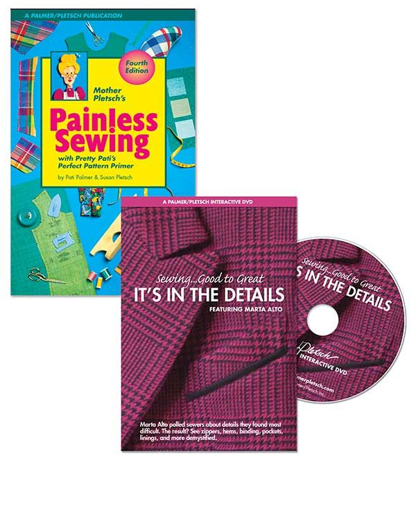Painless Sewing book plus It's In The Details DVD