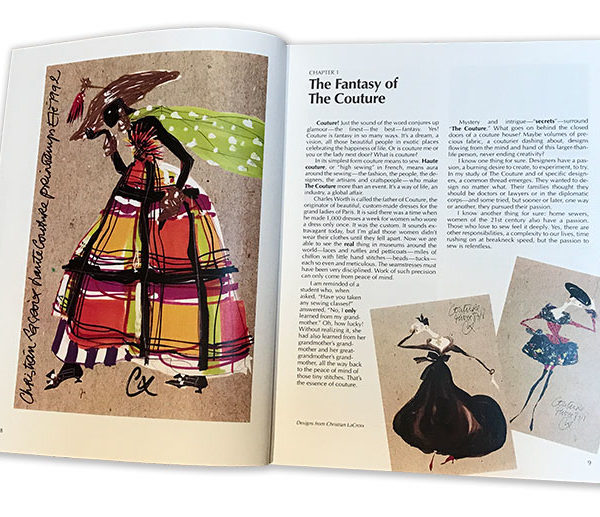 Couture book pages - The Fantasy of the Couture