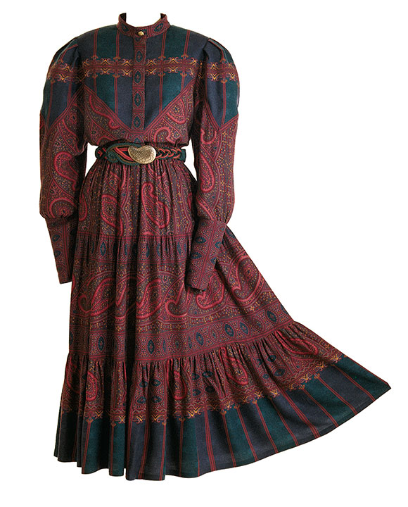 a dress made from scarves
