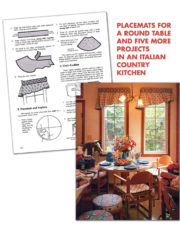 An Italian Country Kitchen from Creative Serging for the Home and Other Quick Decorating Ideas