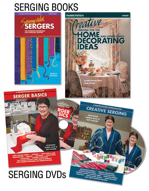 Serger books and DVDs from Paler/Pletsch