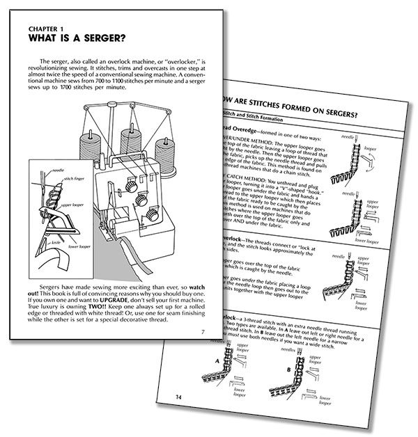sample pages from Sewing With Sergers