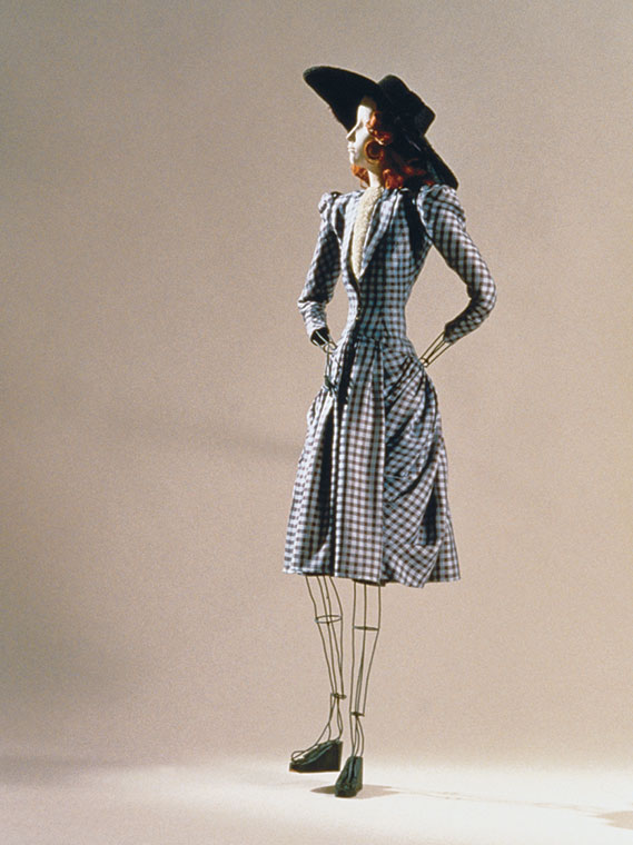 Théâtre de la Mode mannequin with afternoon dress by Madeleine Vramant