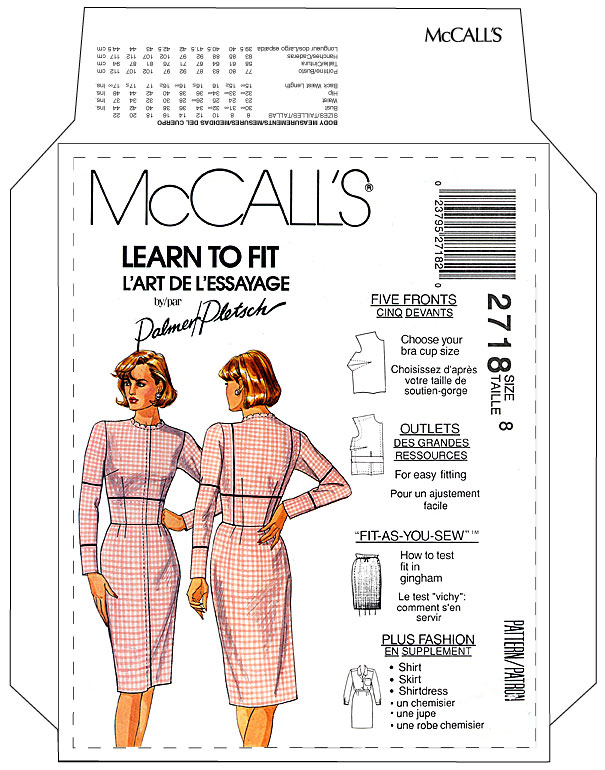 McCall\'s 2718 Basic Learn-to-Fit Pattern