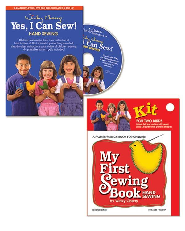 """My First Sewing Book Kit and """"Yes, I Can Sew!"""" DVD"""
