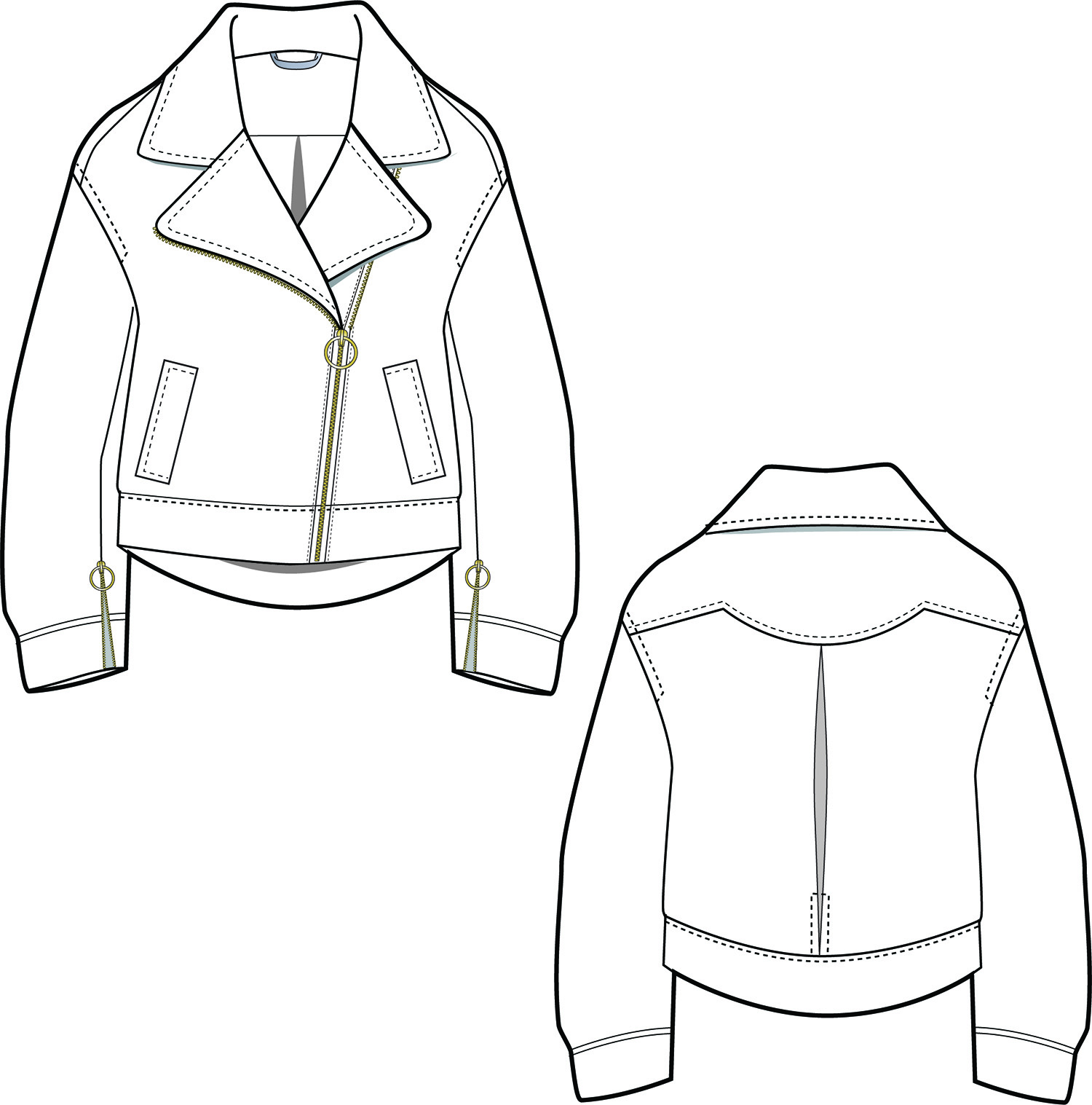 Moto Jacket Pattern Unique Decorating